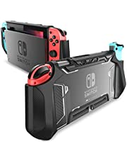 Dockable Case for Nintendo Switch - Mumba [Blade Series] TPU Grip Protective Cover Case Compatible with Nintendo Switch Console and Joy-Con Controller (Black)