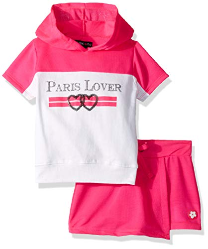 - Limited Too Girls' Toddler 2 Piece Active Fashion Top and Skort Set, Paris Lover Multi, 3T