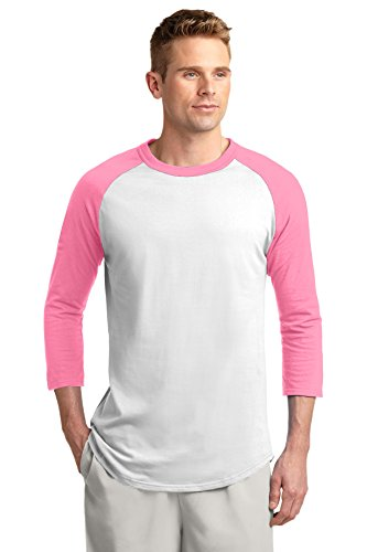 Used, Sport-Tek® Colorblock Raglan Jersey. T200 White/ Bright for sale  Delivered anywhere in Canada