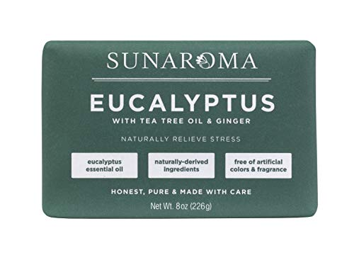Sunaroma Eucalyptus with Tea Tree Oil & Ginger Soap (Pack of 1)