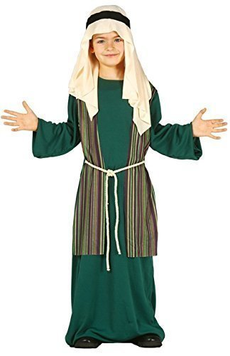 Boys Green Shepherd Joseph Christmas Nativity Xmas Fancy Dress Costume Outfit 3-12 yrs (7-9 years) ()