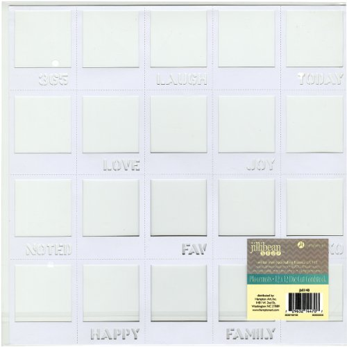 Hampton Art JB12PL-148 Placemats Die-Cut Cardstock, 12 by 12-Inch, White Mini Journaling Frames
