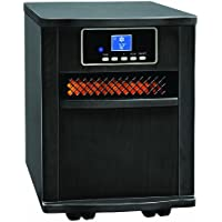 Comfort Zone Black Finish Fan-Forced Digital Infrared Quartz Heater CZ2011B