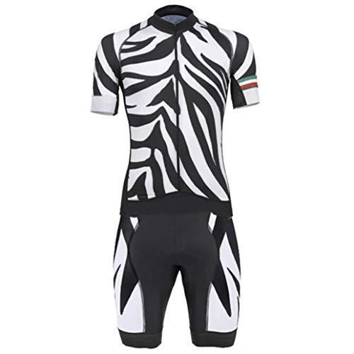 Rzxkad 1PCS Zebra Pattern Cycling Triathlon Skinsuit Man's Jumpsuit Speed Bike Sports Jerseys Black