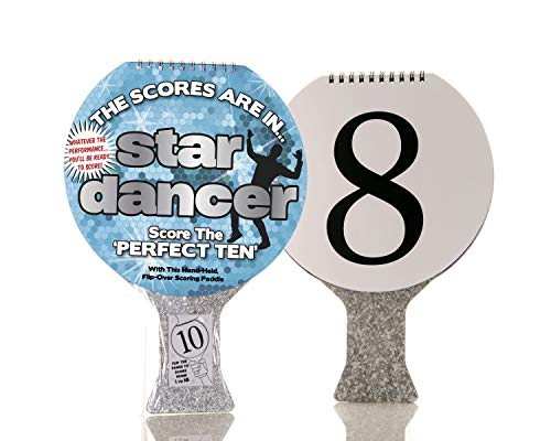 Boxer Gifts Star Dancer Scoring Paddle | Score Your Dad's Terrible Dancing | Fun for All The Family | Great for Parties, Birthday or Christmas