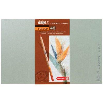 (Bruynzeel Design Coloured Box Of 48 Pencil Set)