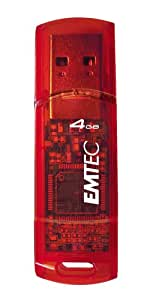 EMTEC C250 Candy Series 4 GB USB 2.0 Flash Drive (Red)