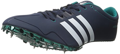 adidas Performance Adizero Prime SP Running Shoe With Spikes Collegiate Navy/White/Green 11.5 M US