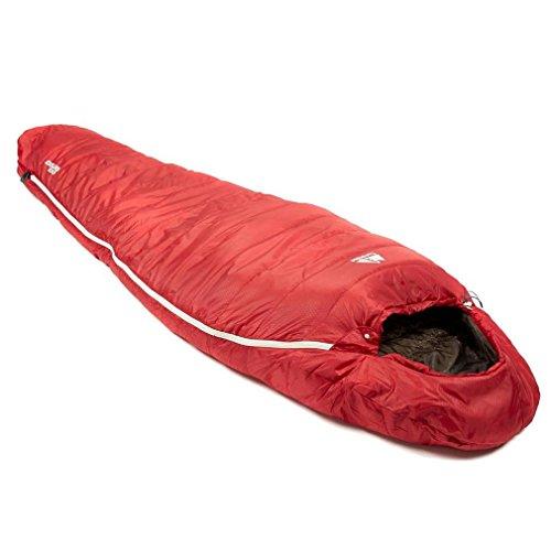 Eurohike Down 500 Mummy Sleeping Bag, Red, One Size