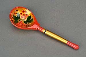 Wooden Tablespoon Khokhloma Painting