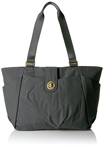 Baggallini Gold International Norway Laptop Tote Charcoal Shoulder Bag, Charcoal, One Size