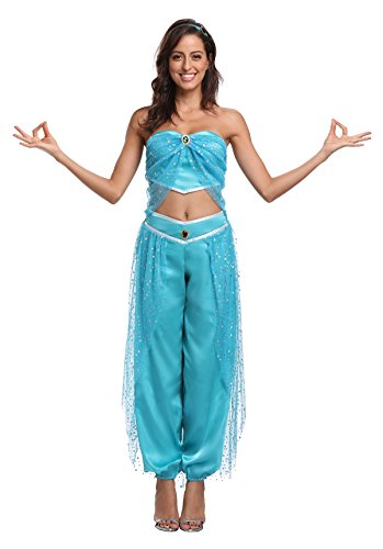 Male Belly Dancer Costume (Blue Halloween Party Costume(Available for Women Men Chilldren Size))