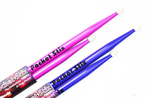 Pocket Stix 11 Passion Pink and 11 Wild Purple Drumsticks For Kids