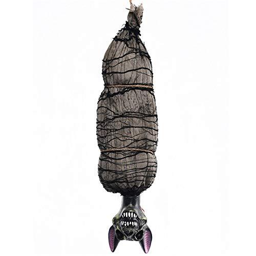 Halloween Hanging Horror Ghost Upside Down Hanging Scare Skull Dry Corpse Halloween Decoracion De Fiestas Y Eventos Electric Toy ()