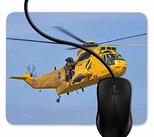 Raf Sea King Helicopter - Mouse Pad Gaming RAF Sea King Rescue Helicopter,9.25X7.75 inch Non-Slip Rubber Mousepad Mat for Desktops, Computer, PC and Laptops 1F2728