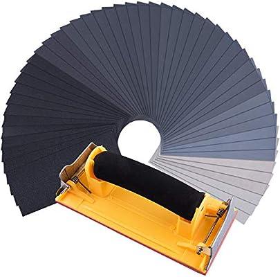 48PCS Sandpaper Sheets Sanding Paper Assorted Grit Wet Dry Assorted Wood