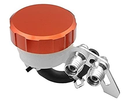 Orange CNC Machined Brake Clutch Motorcycle Racing Master Cylinder Fluid Reservoir Tank Oil Cup For Yamaha YZF R1 2004 2005 2006 2007 2008