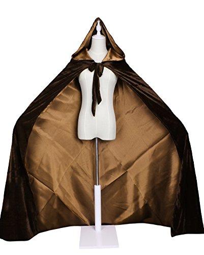LuckyMjmy Velvet Renaissance Medieval Wedding Cloak Cape Lined with Satin (Plus, (Lined Velvet Costumes)