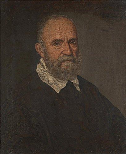 Theポリエステルキャンバスの油絵`レアンドロBassano Portrait of a Bearded Man」、サイズ: 10x 12インチ/ 25x 31cm、このアート装飾プリントキャンバスは、フィットのパウダールームアートワークとホームデコレーションとギフトの商品画像