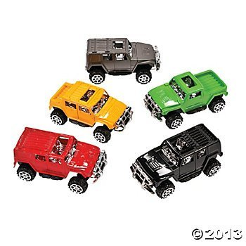 Pullback Assorted Farbes SUV Assortment-Plastic (12 Count) Toys Cars Trucks Prizes Goody Bags Birthday Gift by Oriental Trading