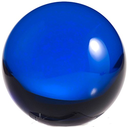 Amlong Crystal 2 inch (50mm) Blue Crystal Ball ONLY - No Stand