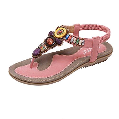 MRSMR - Sandalias de vestir de poliuretano para mujer Rosa
