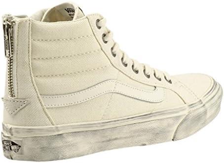 Vans Baskets Montantes Sk8 hi Slim Zip Overwashed Blanc DE