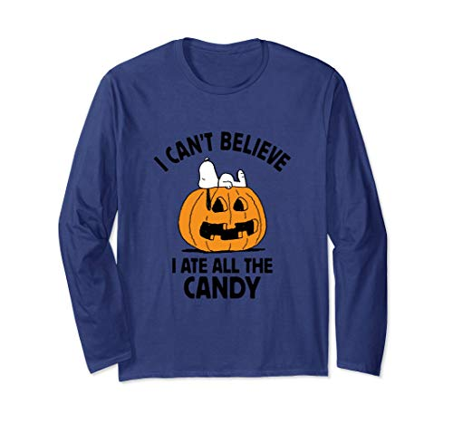 Peanuts Halloween Snoopy All The Candy Long Sleeve T-Shirt ()