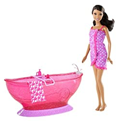 Barbie Bath Tub & Barbie African-american Doll Playset