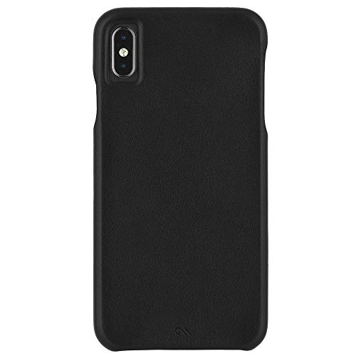 Case-Mate - iPhone XS Max Case - BARELY THERE LEATHER - iPhone 6.5 - Black Leather (Case Mate Barely There Case For Iphone 6)