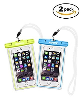 huge selection of 140b4 315d8 Amazon.com: Universal Waterproof Fluorescence Cell Phone Case, New ...