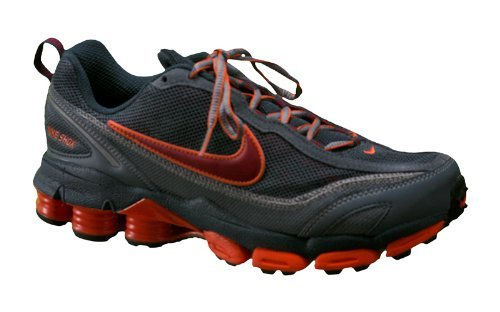 Nike Shox Junga II Running Shoes Mens Size,4.5 Youth,Deep Ocean/Tm Red/Orange