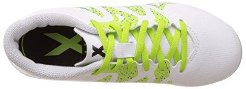 adidas Unisex-Kinder X 15.4 FG J Fußballschuhe Weiß (Ftwr White/Semi Solar Slime/Core Black)