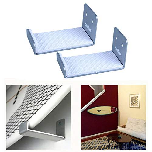unho 2PCS Skateboard Wall Rack Holder Naked Snowboard Display Wall Mount for Longboard Storage, Silver ()