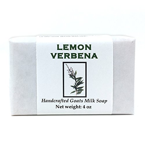 Lemon Verbena Handmade Soap with Goat Milk, Shea Butter, Cocoa Butter, Sweet Almond, Fragrance and Essential Oils (One Bar) by MoonDance Soaps and More