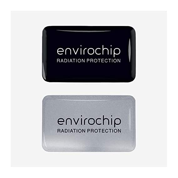 Envirochip - Clinically Tested Radiation Protection Chip for Mobile - Value Pack of 2 (Black & Silver)