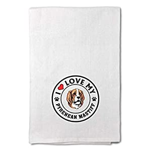 Custom Decor Flour Kitchen Towels I Love My Pyrenean Mastiff Dog Style A Pets Dogs Cleaning Supplies Dish Towels Design Only 11