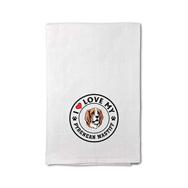 Custom Decor Flour Kitchen Towels I Love My Pyrenean Mastiff Dog Style A Pets Dogs Cleaning Supplies Dish Towels Design Only 1