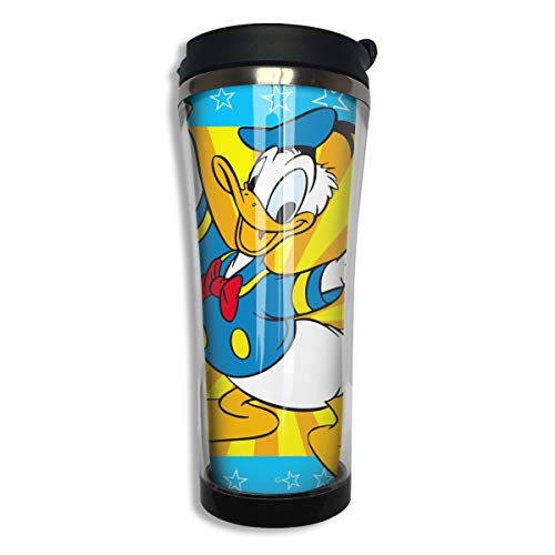 Stainless Steel Travel Mug Donald Duck (2) Coffee Cup Tumbler with Lid 14.3 Oz Ducks Stainless Steel Travel Mug