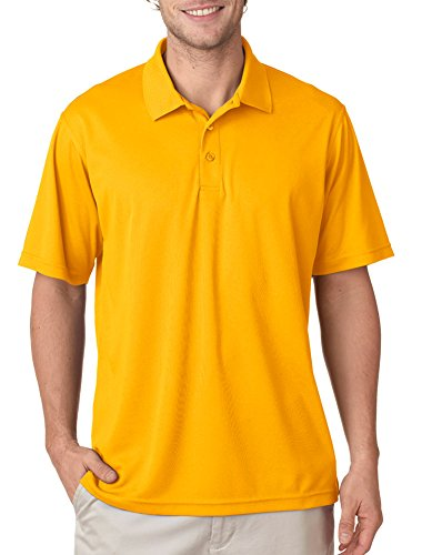 UltraClub Women's Cool & Dry Mesh Pique Polo Shirt, GOLD, X-Large ()