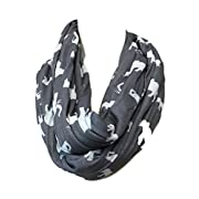 Infinity Nursing Scarf For Breastfeeding Two Sided Breathable All Around Cover