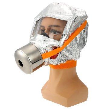Fire Mask Emergency Escape Mask Smoke Gas Mask Self-life-saving Respirator for Home Hotel Shop Market - Safety & Protective Gear Masks -1 x FIRE ACTION Sign Sticker by Unknown (Image #1)