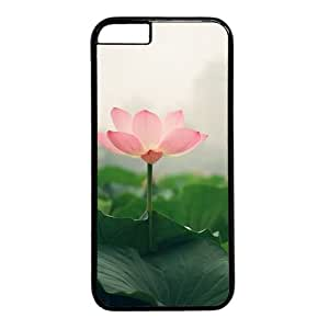 "Lotus Flower Theme Case for iPhone 6 Plus (5.5"") PC Material Black"
