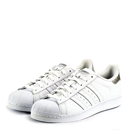 adidas Superstar Foundation Herren Sneakers Weiß/Silberfarben