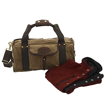 28e6135090 Frost River Explorer Duffel Bag Waxed Canvas Leather Small  Amazon.co.uk   Sports   Outdoors
