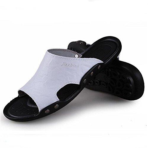 Vintage Playa Hombres Cool Moda Mr Zapatillas Verano Chanclas White Sober Cómodas De Sandalias Para Cuero Y w0qX8gCqv