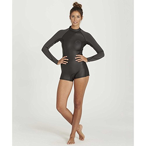 Billabong Women's Spring Fever Long Sleeve One Piece Swimsuit, Black, 10 by Billabong