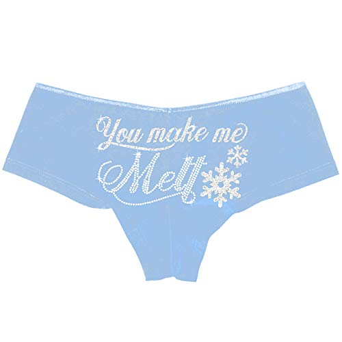 You Make Me Melt with Snowflake Panty - Holiday Lingerie & Gifts for Wife, Fiancé or Girlfirend - Small ()