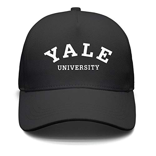 Unisex Black Baseball Hat for Mens Womens Yale-University- Summer Caps