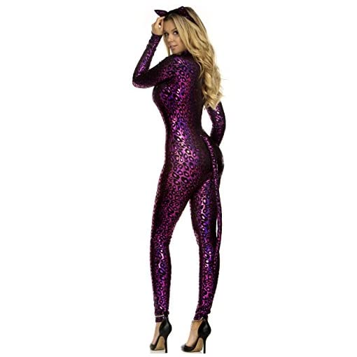 Forplay Womens Fancy Feline Catsuit Costume And Headband